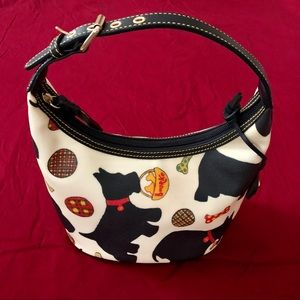 Dooney & Bourke Scottie Dog Bone Charm Bucket Bag